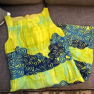 💃 Anthropologie Tabitha Azure Scroll Dress 💃